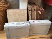 50 large glazed ceramic floor / wall tiles