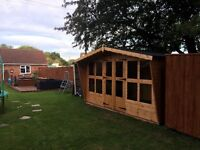 12x8 garden summer house delivered and fitted
