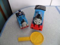 FISHER PRICE MOTION CONTROLLED / REMOTE THOMAS THE TANK ENGINE TRAIN & PUSH N GO THOMAS - CAN POST