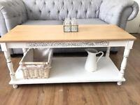 SOLID OAK COFFEE TABLE FREE DELIVERY LDN🇬🇧RUSTIC