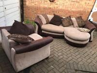 Lounger sofa and armchair