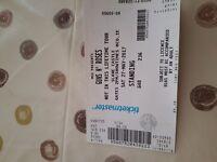 2 x Guns N Roses tickets