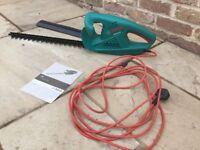 Bosch 45cm electric hedge cutter.