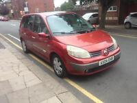 Renault grand scenic 1.6 petrol 04 plate 7 seater low miles good condition £400