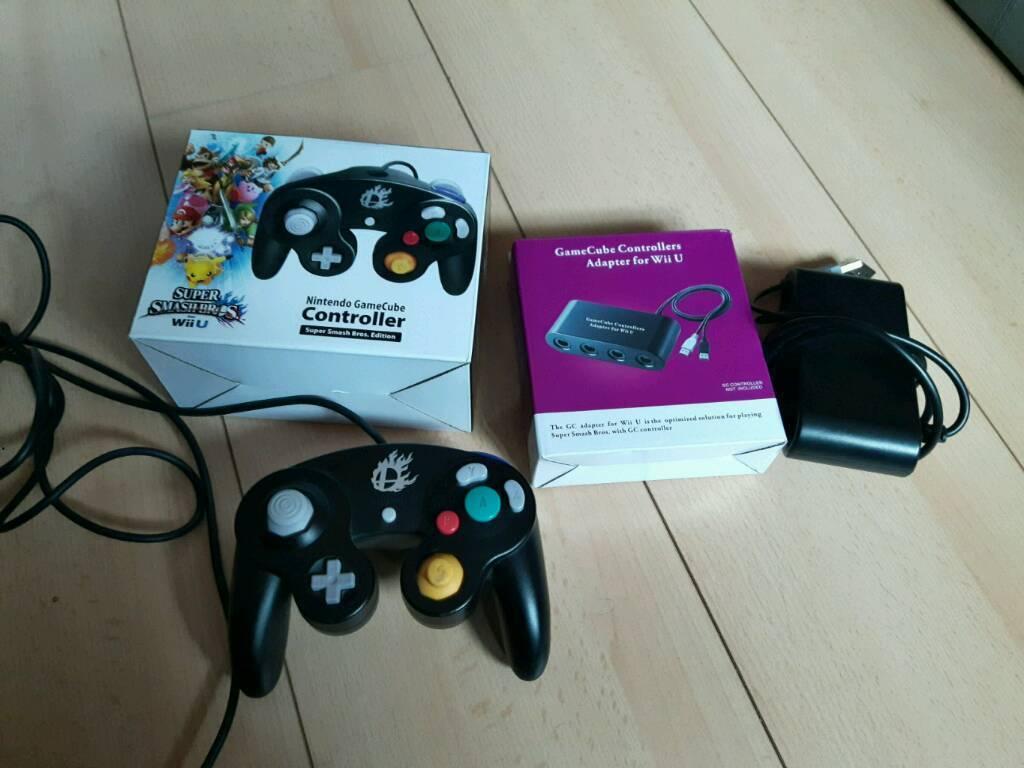 Wiiu smash bros controller and gamecube adapter