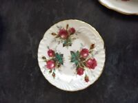 """Partial set of Hammersley """"Grandmother's Rose"""" pattern fine china"""