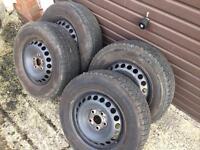 Vw transporter t5 steel rims alloy wheels