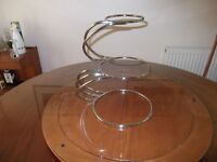 Wedding / celebration Cake Stand 3 Tier E shaped as used by Professionals