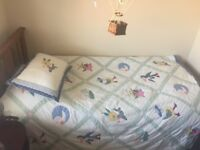 Single bed mattress, frame also available