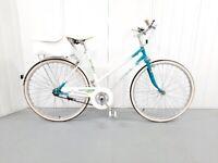 r 🚲🚲Wonderful frame UNIVERSAL City BIKE 3 Speed Hub Gear M Size With White Basket 🚲🚲