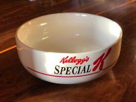 rare Kelloggs special K cereal bowl