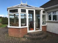 White PVC double glazed conservatory 3mx4m