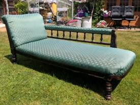 Antique early Victorian chaise lounge