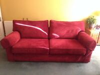 Large red sofa for sale (Collection only)
