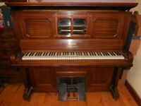 Piano/pianola/player piano, Steck, lovely tone. (Pianola mechanism needs renovation - great project)
