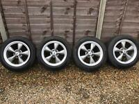 4x wheels off a 2005 Mustang GT - 235/55/17 Pirelli P-Zero tyres. All wheels in very good condition!