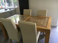Willis & Gambier extending dining table, chairs and large sideboard