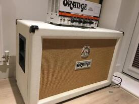 Orange dual terror amp and orange 2 x 12 cab celestion green back speakers