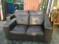 Faux leather suite