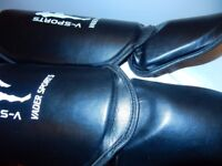 Sports Shin Instep Pads Legs Kick Foot Guards Muay Thai Boxing Training size XS