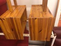 2 x small pine side units / tables