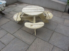 childrens picnic table, 8 seats, kids garden furniture table