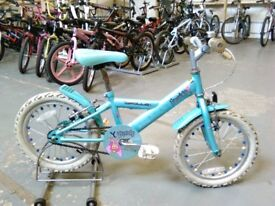 GIRLS APOLLO SPARKLE BIKE 16 INCH WHEELS BLUE GOOD CONDITION