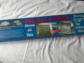 Pack-vac n stack storage pack