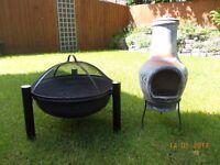 FIRE PIT (La Hacienda Icarus Steel) AND SMALL CHIMENEA FOR SALE.