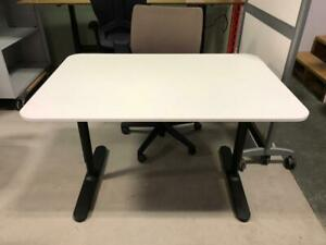 White Table Desk with Black T-Legs - $99.00