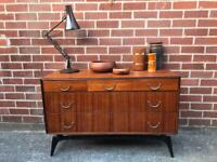 Vintage MEREDEW Teak Sideboard Drawers Mid Century Retro 60s 70s RARE