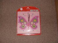 Children's Butterfly Clock £5 BRAND NEW