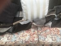2 seater sofa bed . Very comfy. Patterned floral.