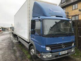 mercedes atego 818 box lorry