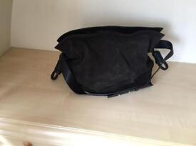 Brown suede handbag