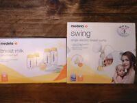 Medela Swing electric breast pump & additional storage