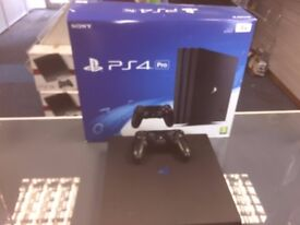 BLACK PS4 PRO - NEW - 1TB STORAGE - CAN BE SWAPPED FOR OLD GADGETS