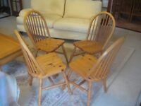 Dining Table Chairs Dinning Chairs Pine Ducal Pine Chairs Set of 4 Four £60