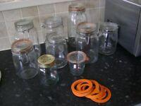 Preserving jars.