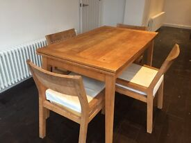 Habitat dining table and chairs