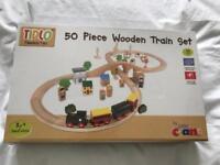 50 Piece Wooden Train Set