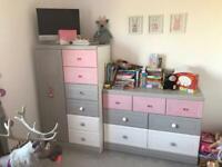 Alstons havana tallboy and 7 drawer chest