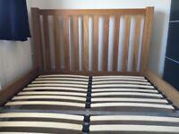 King Size bed oak hardly used