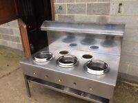 Chinese Range Cooker 5 Burner ,Gas ,Very Good Condition 148 W x 85 D x 75 H