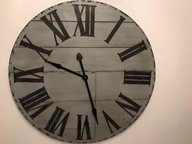 84 cm rustic wall clock