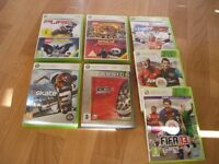Sellection of xbox 360 games (9 games in total)