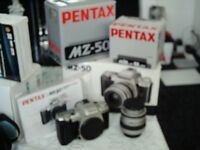 pentax and minolta 35mm film cameras and accessories for sale