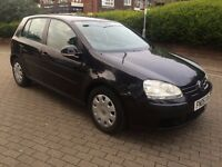 VW GOLF MK5 2005 DIESEL 5 DOOR 73000 MILES BLACK 1 YEAR MOT