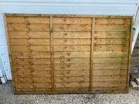 NEW Dip Treated Overlap Fence Panel - 6 X 4ft