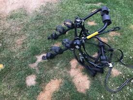 Bike rack/carrier for three bikes with crossbar included